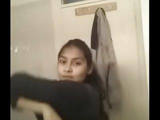 Desi teen bathroom selfie