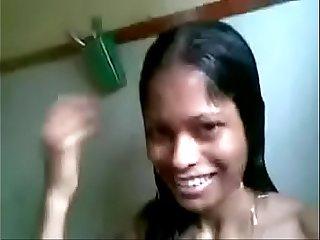 sri lankan student showering