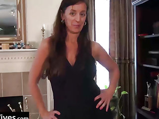 USAWives Lusty Aged with 2 sex toys in her taut cumhole