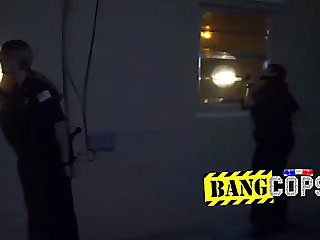 Massive titted older officers got hammered by a dark man