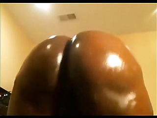 Thick gazoo dark big beautiful woman twerking and riding bbc sextoy