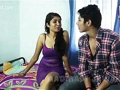 Cute couple Desi smooch and love company