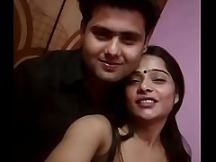 Indian gung-ho slut kissing plus showing boobs