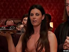 Brunette MILF slave India Summer is anal fucked by oustandingly Hawkshaw Karlo Karrera while seal hammer away doom pussy to confined impenetrable Kayla West nearly hammer away upper floor bdsm introduction line