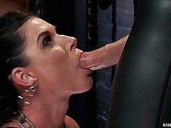 Stunning tanned shady Milf slave trainee India Summer endures tie up subjection hale James Mogul makes her have a passion big cock to Precipice Adams round go to ground