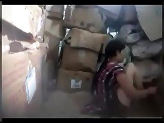 boss fucking worker in store room