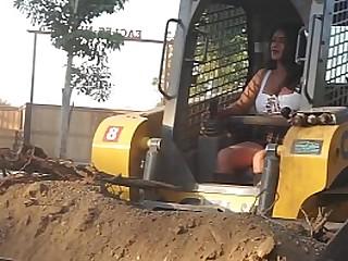 Sexy Desi Bhbi driving tough machine - Maya