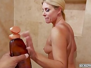 Milf India Summer spread her legs wide open and step son slids his large rod deep inside her vagina and plows her with conviction!