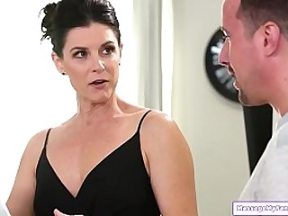 Milf stepaunt gets nurugel from her stepnephew as a welcome gift.He has no clue what its for and asks for a massage.She agrees and hes shocked to find them both naked.She body slides and works his cock and sucks him off.He then fucks his hot stepaunt
