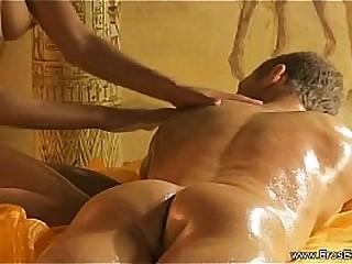 Stroking His Hard Cock Massage