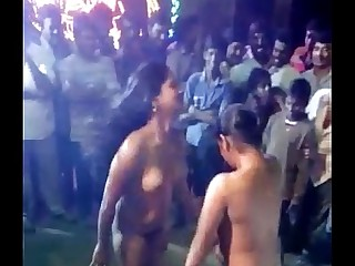 indian females paid and nude dance show . ganu