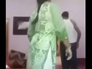 Desi couple green dress