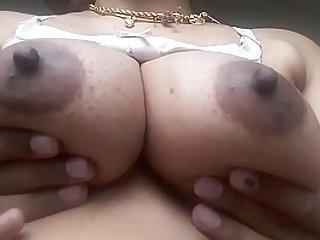 Desi Tamil aunty Milky Boobs Fondled
