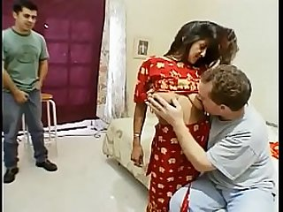 Indian slut Kara gangbanged and creamed by five dudes