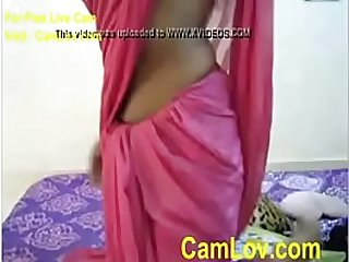 Indian girl in clothes strips