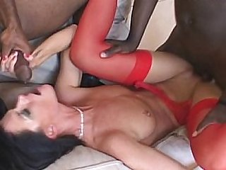 India - gangbang interracial
