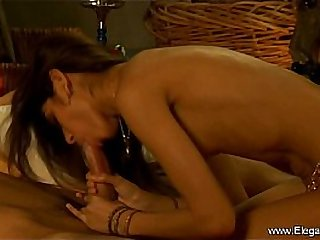 Deep Brunette Blowjob From India