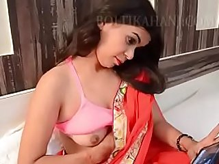 Indian girl masturbates, strips and gets fucked